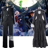 Cartoon Anime The Nightmare Before Christmas Jack Clothing Halloween Masquerade Party Jack Skellington Cosplay Prop Costume