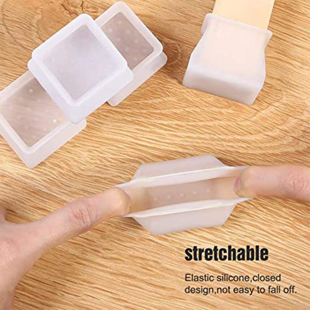 4/8/16 pces protetor de móveis capa proteção de silicone quadrado para casa cozinha barra cadeira perna piso protetor