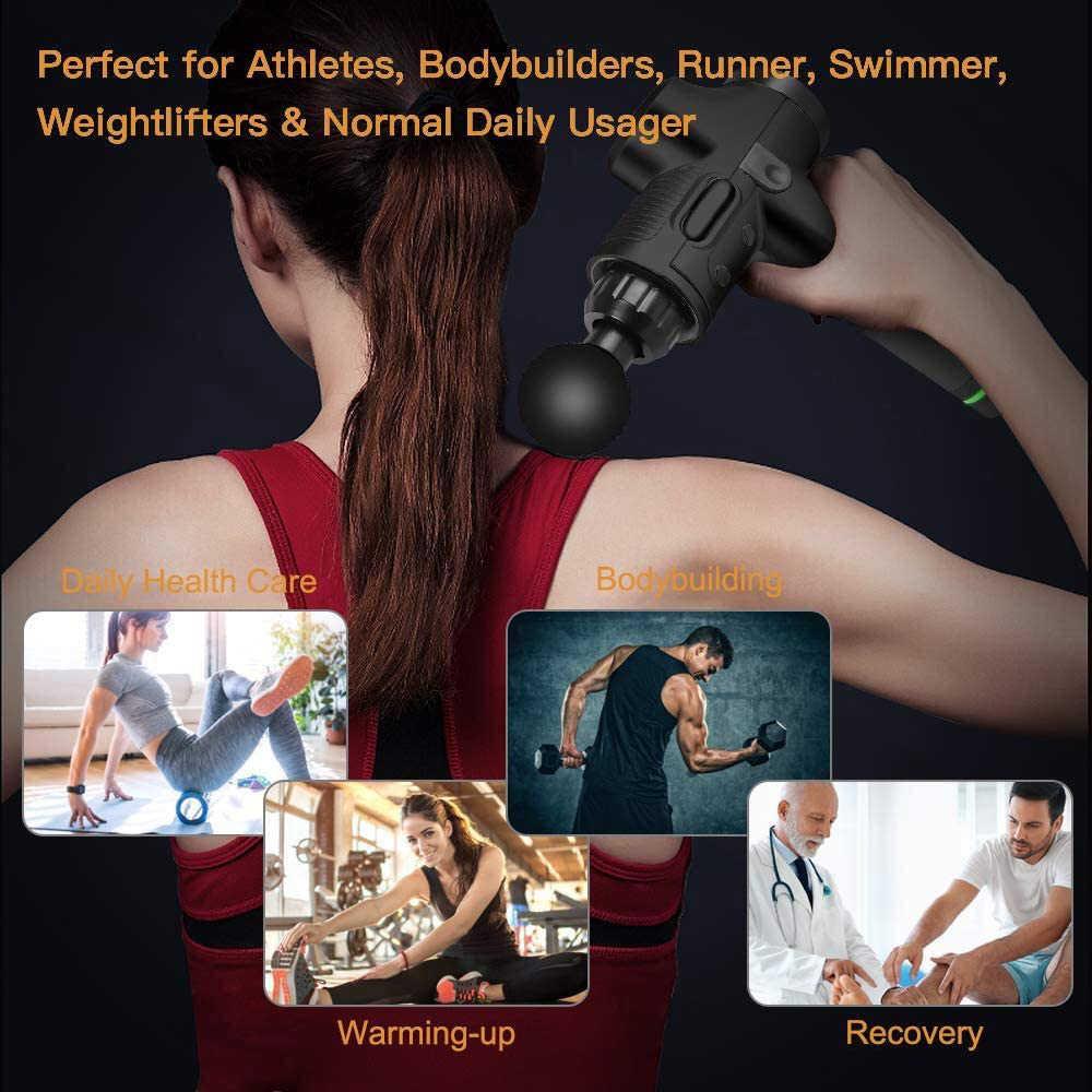 LCD Display Massage Gun Tiefe Muscle Massager Muskel Schmerzen Körper Neck Massage Ausübung Entspannung Abnehmen Gestaltung Schmerzen Relief