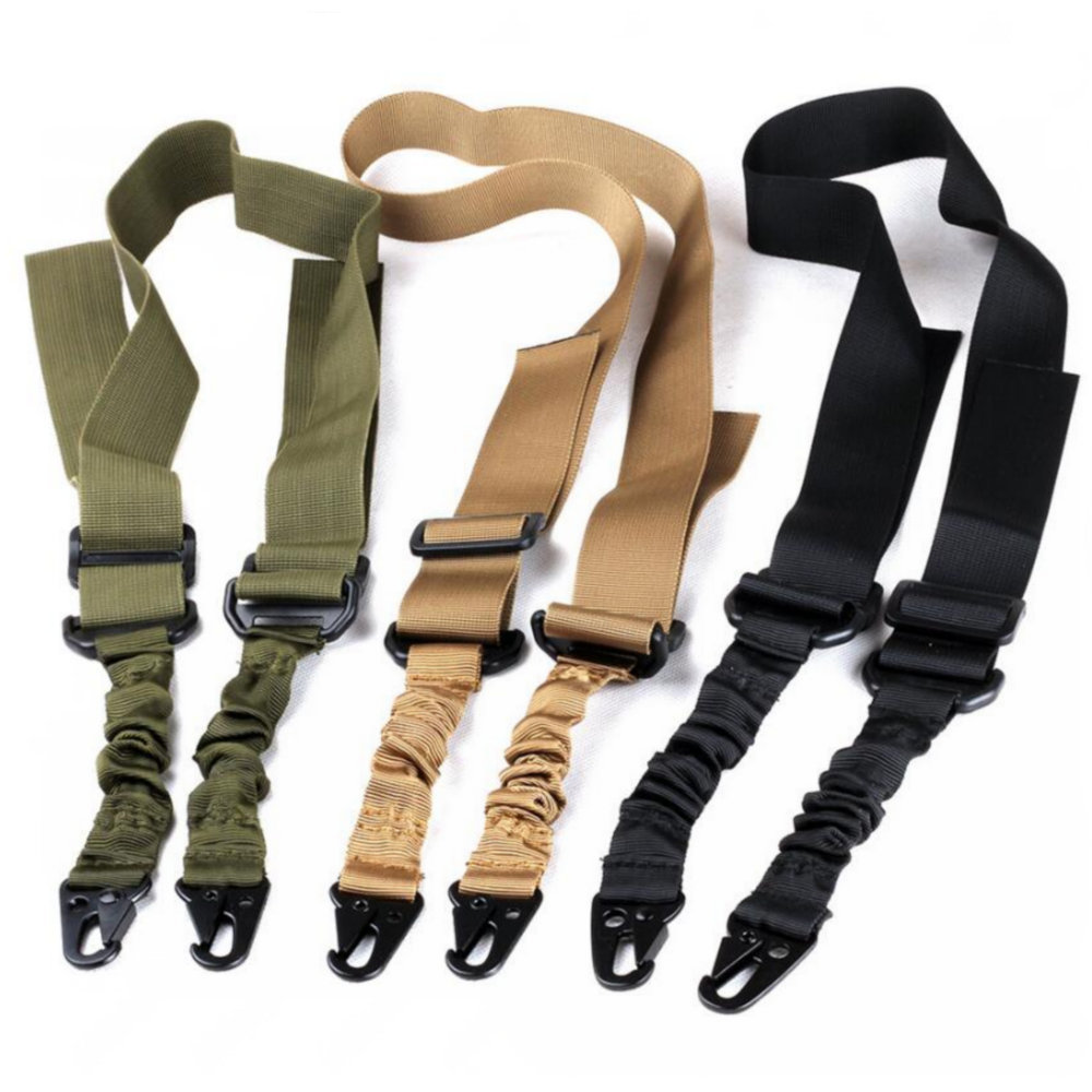 Adjustable Tactical Dual-Point Sling Nylon Black Sling System for Rifle gun