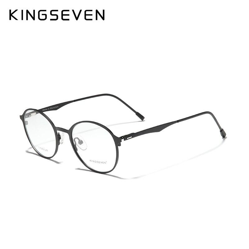 KINGSEVEN-gafas ópticas redondas de titanio para hombre, lentes de graduación personalizada, 2020, 1,56, 1,61, 1,64