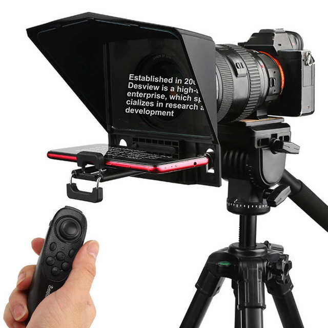 fotografia Besview T2 Mobile Phone Tablet PC SLR Camera Teleprompter Portable Live Broadcast Equipment photo studio