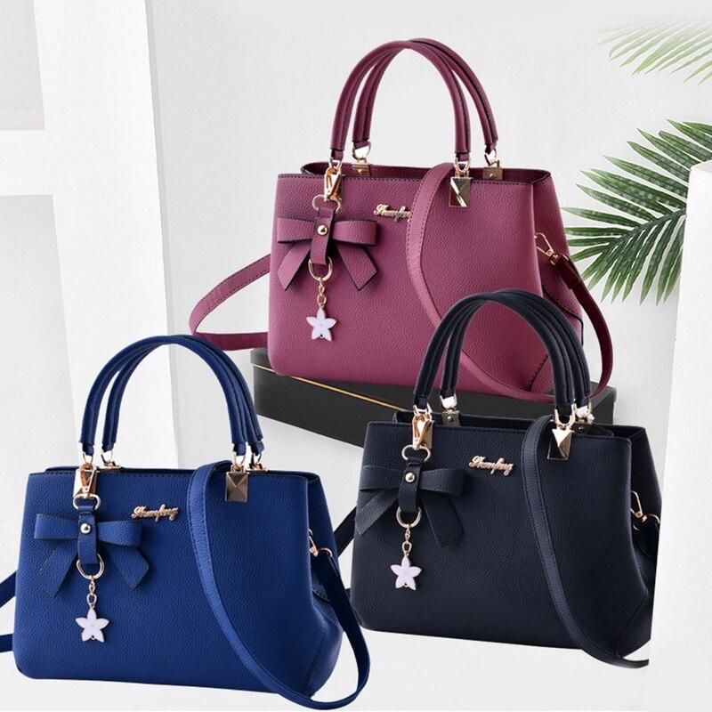 Puimentiua 2019 Fashion Shoulder Bag Women Designer Luxury Handbags Women Bags Plum Bow Sweet Messenger Crossbody Bag For Women