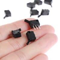 10 Uds Micro interruptores miniatura pequeño límite interruptor de viaje con agujero tres pines normalmente abiertos normalmente N/O N/C