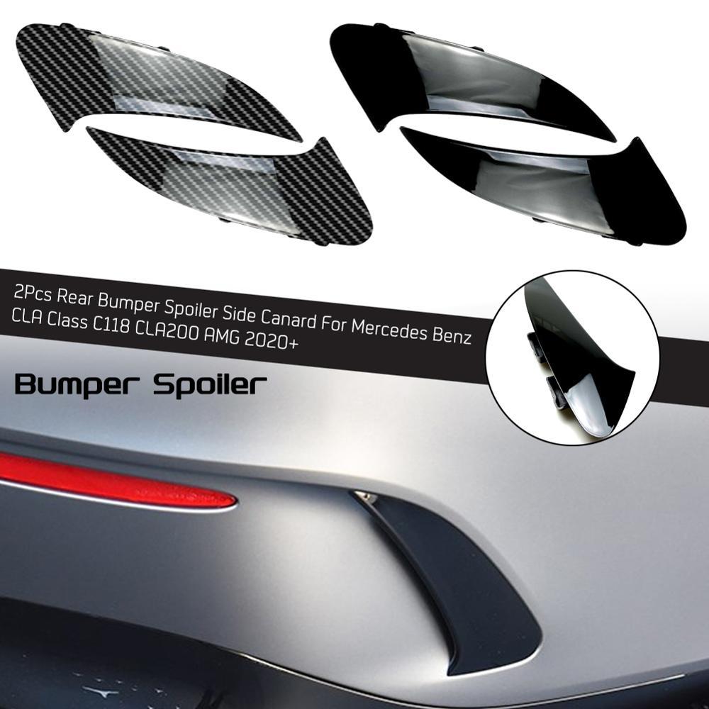 2 adet arka tampon Spoiler yan kemer için Mercedes Benz CLA sınıf C118 CLA200 AMG 2020 +