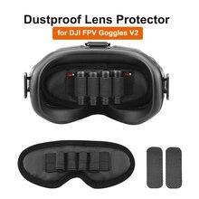 الغبار حامي عدسة ل DJI FPV نظارات V2 هوائي تخزين غطاء الذاكرة فتحة للبطاقات حامل التظليل تخزين حصيرة الملحقات