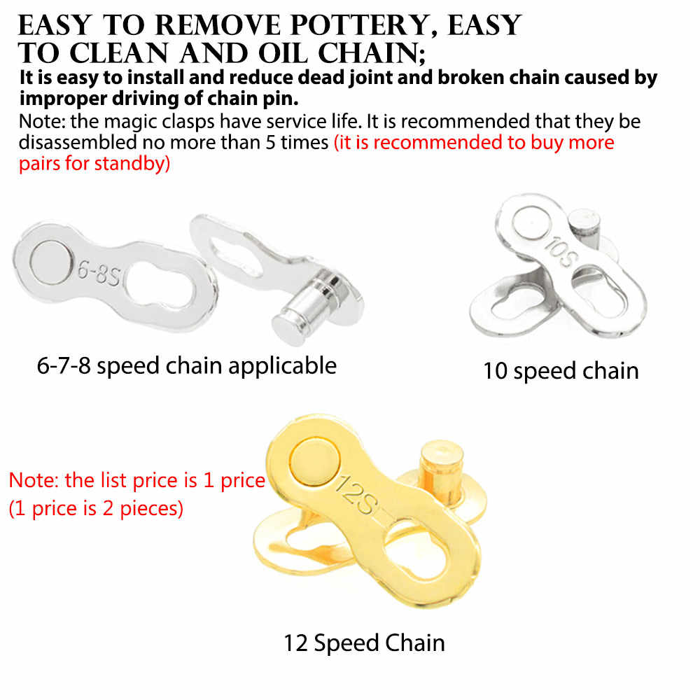 Details about  /2pcs 12 Speed Bike Chain Connector Lock Set for Quick Link Joint Chain PiRSZ8