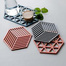 1 шт силиконовый коврик для посуды в скандинавском стиле