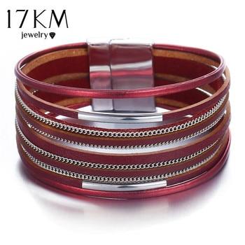 Women's Gold Leather Bracelet Bracelets Jewelry New Arrivals Women Jewelry Metal Color: FCS119310