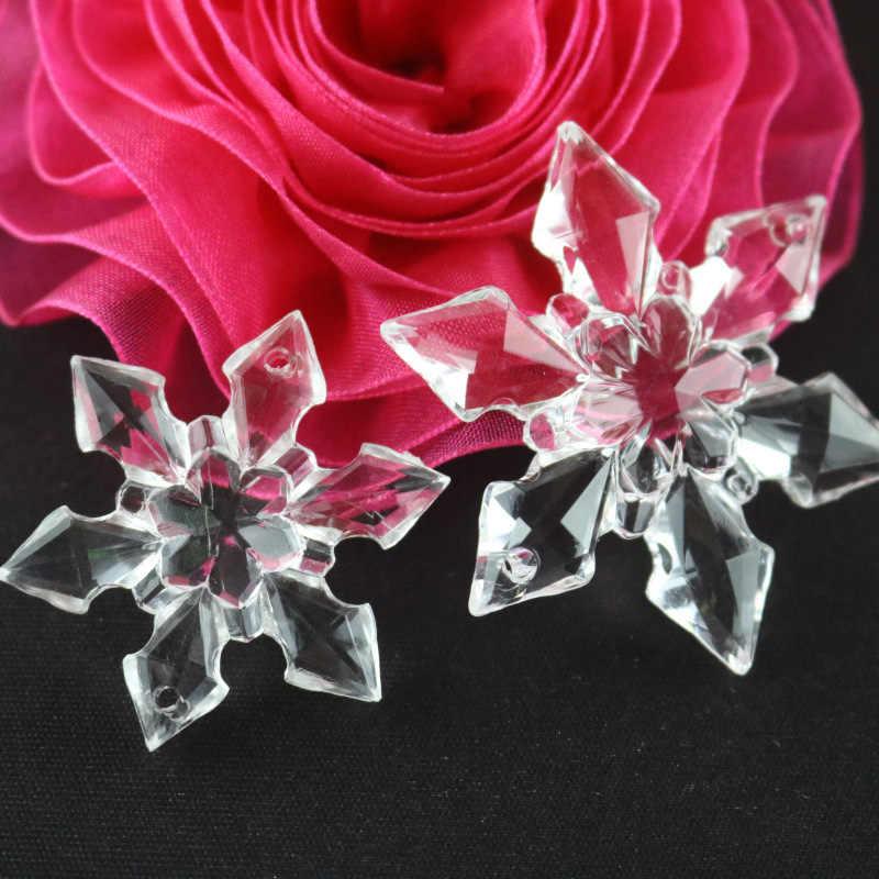 12 sztuk/paczka jasne akrylowe Rhinestone Flatback Cabochon wyroby dekoracyjne DIY Scrapbooking Decor boże narodzenie Snowflake kształt 28-66mm
