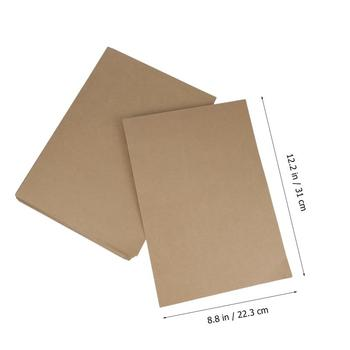 20pcs A4 Kraft Paper File Folder Document Paper Organizer Storage Holder School Office Stationery Supplies 6
