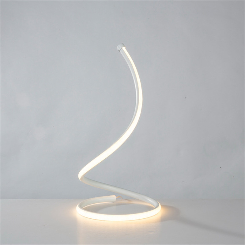 LED Spiral Table Lamp Home Living Room Bedroom Decoration Lighting Bedside Light