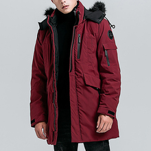 Puimentiua Winter Casual Long Style Hooded Epaulet Cotton Padded Jackets Men Thick Hat Windproof Fashion Parka Pockets Coats