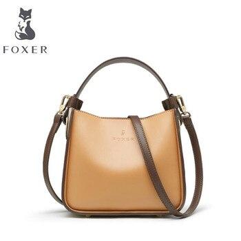 FOXER designer bags famous brand women bags 2020 new luxury handbags women bags cowhide tote bag fashion women shoulder bag