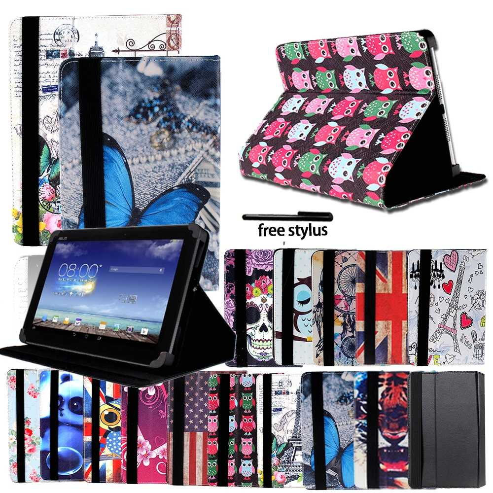 Shockproof Printing Folio Kulit Stand Cover Case For ASUS Fonepad 7/Memo Pad 7/8/Memo Pad HD 7 Tablet Case + Stylus