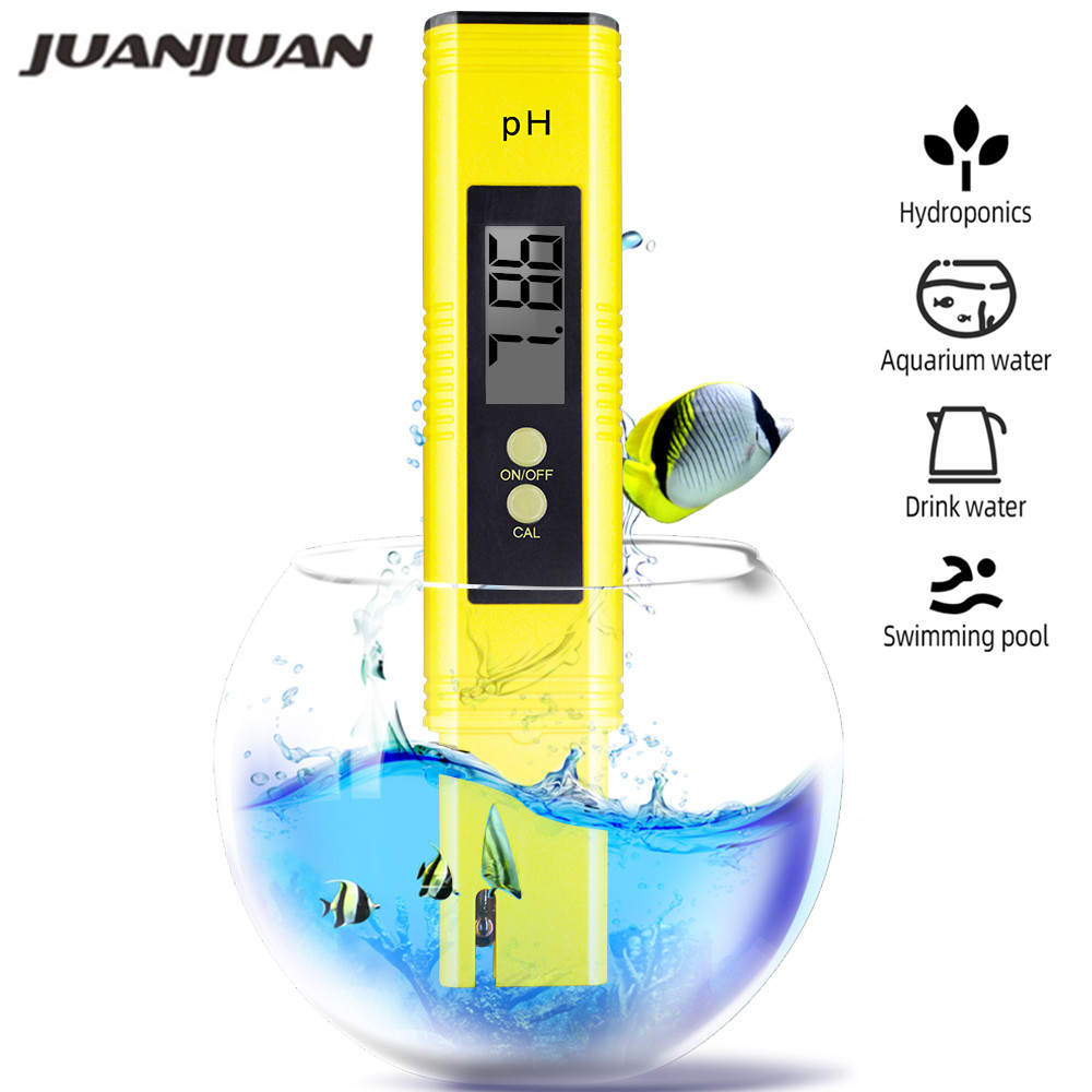 0.01 Medidor digital de pH para la calidad del agua, alimentos, acuarios, piscinas Hidroponía Tamaño de bolsillo Probador de pH Pantalla LCD grande 20% de descuento