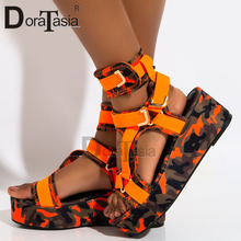 DORATASIA Large Size 34-44 INS hot Brand New Female Wedges Gladiator Sandals Party Colorful Summer Women Shoes Woman