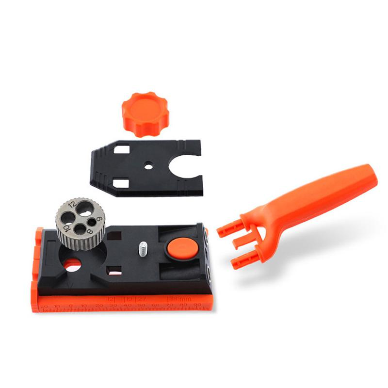 HiMISS Pocket Hole Jig 6/8/10/12mm Doweling Jig Kit Carpentry Locator Hole Drill Guide DIY Woodworking Tools With Box