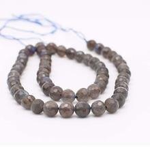7 мм натуральный камень для вспышки Круглый бисер diy ожерелье
