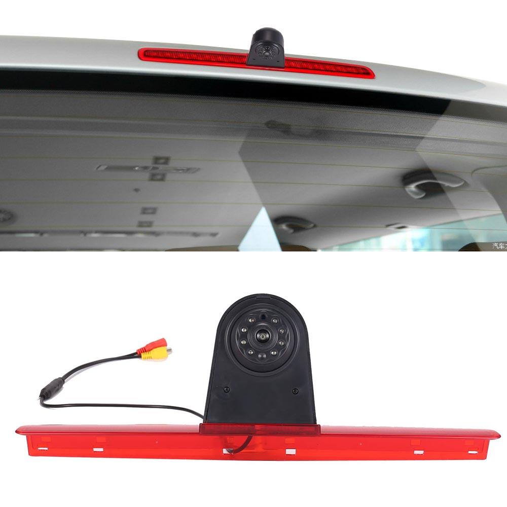 HD CCD światło stopu samochodu kamera tylna dla VW T5 2003-2015 pojazd kamera cofania centrum wysoko montowane lampa Stop światła parkingowe