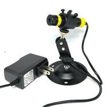 Регулируемый 405 нм 300 мВт точка лазер диод модуль высокая мощность свет w 5 В адаптация 16x68 мм r +% 26 гибкий держатель