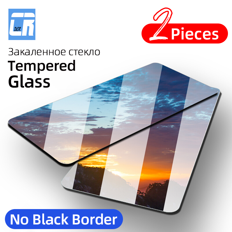 2Pcs Full Cover Tempered Glass for <font><b>Huawei</b></font> Nova 6 SE 5 5i Pro <font><b>P30</b></font> Lite P40 Mate 30 20X <font><b>Screen</b></font> <font><b>Protector</b></font> for Honor 9A 9x 30S Glass image