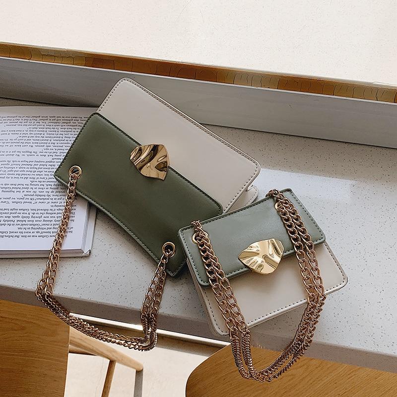 Mini Contrast Color Square Crossbody Bag 2020 Fashion New Quality Leather Women's Designer Handbag Chain Shoulder Messenger Bag