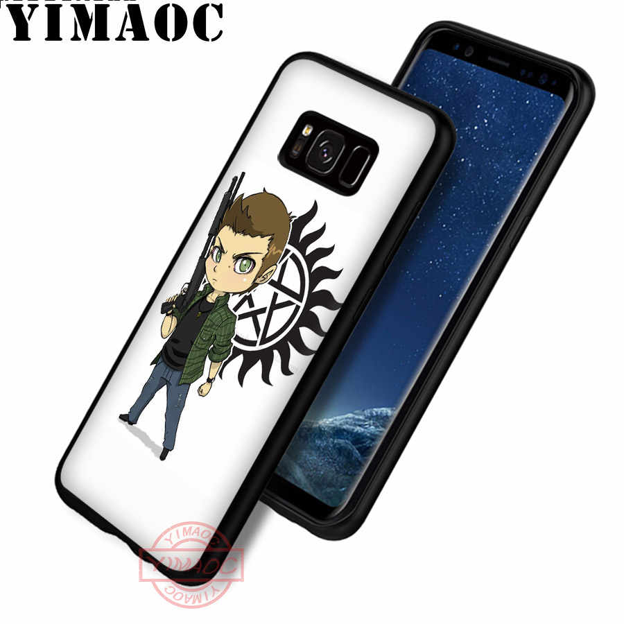 YIMAOC Fresco Supernatural tv logo Custodia Morbida per Samsung S20 Ultra S10 S9 S8 S6 S7 Bordo Nota 8 9 10 Lite Più