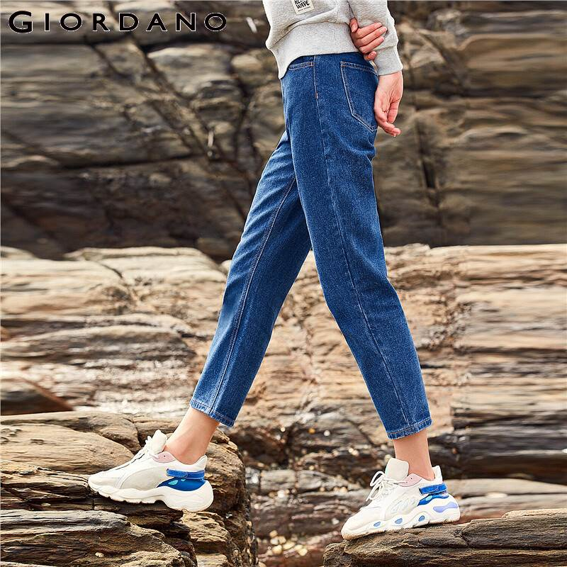 Giordano Women Jeans High Waist Ankle-length Denim Pants Stretchy Five Pockets Classic Style Calca Jeans Feminina 05429334