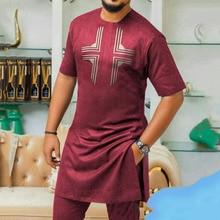 African fashion Muslim ethnic style Dashik men's summer print short-sleeved casual top shirt