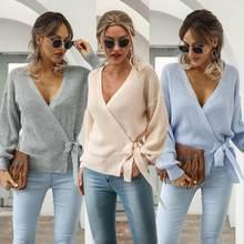Femmes vert tricoté Cardigan pull femmes à manches longues ceintures Chic pull Streetwear automne hiver femmes tricot pull 2021