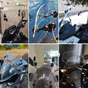 Image 4 - ROAOPP evrensel motosiklet yükseldi ayarlanabilir rüzgar ekran Spoiler hava deflektörü için Honda BMW Yamaha Kawasaki Suzuki