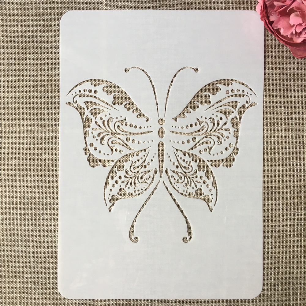 A4 29cm Butterfly DIY Layering Stencils Painting Scrapbook Coloring Embossing Album Decorative Template
