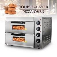 20L Kommerziellen Doppel Schicht Pizza Ofen 3000W Elektrische Konvektion Braten Backofen Huhn Ente Kuchen Brot Backofen Edelstahl-in Öfen aus Haushaltsgeräte bei