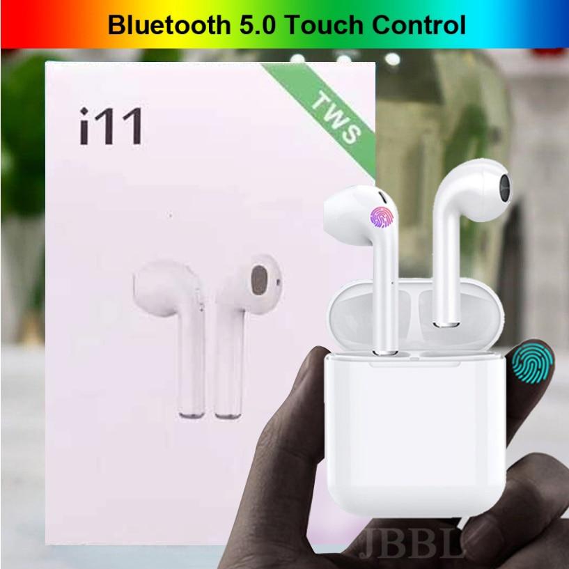Original I11 TWS 1: 1 Wireless Bluetooth 5.0 Super Bass Earphones Stereo 3D Headphone TWS Mini Earbuds Headset PK I21 I13 X20s