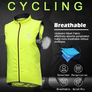 Image 3 - X TIGER Windproof Cycling Vest Rainproof Sleeveless Reflective Safety Vest MTB Bike Jacket Outdoor Sport Quick Dry Rain Jacket
