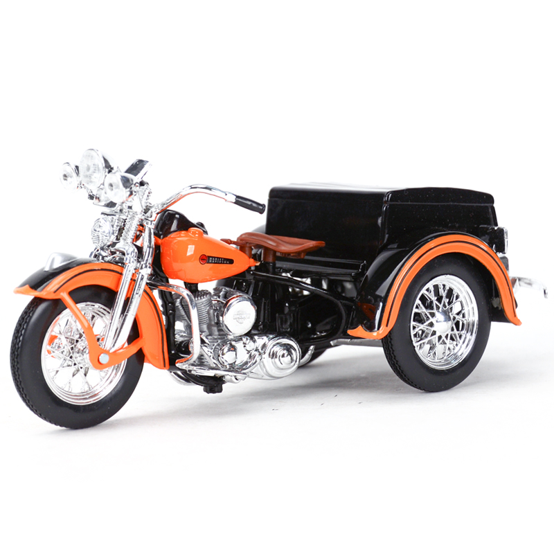 Maisto 1:18 1947 Servi-Car Motorcycle Sidecar Diecast Alloy Motorcycle Model Toy