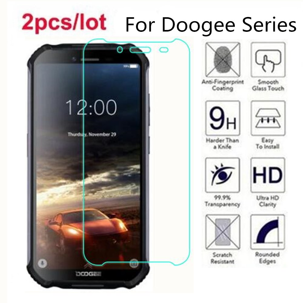 Tempered Glass For Doogee N20 2.5D Premium Screen Protector Film On For Doogee S55 S60 S70 S80 Lite S40 S90 Pro(China)