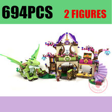 NEW Fairy Elves Dragon Fit Legoings Fairy Elves Friends City Building Blocks อิฐของ()