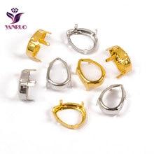 YANRUO 4320 капля медь K9 пустые коготь настройки для необычных камней серебро золото прочно установить основание пьедестала