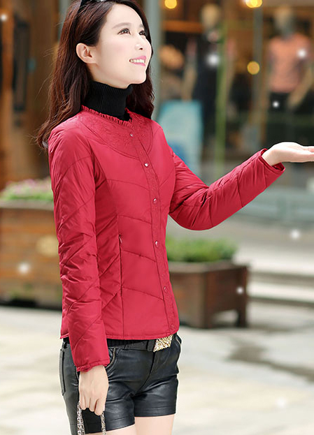 Plus Size M-3XL New Winter Jacket Women Parkas Short Slim O-Neck Overcoat Female Clothing Abrigos Mujer LX344