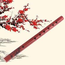 Nouveau 1PC chinois traditionnel 6 trous bambou flûte verticale flûte clarinette étudiant Instrument de musique en bois couleur pour enfants cadeau