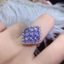Monopoly Tanzanite-Ring Natural Stones 925-Silver Precious Fan-Shape Gem-Shop Popular-Design