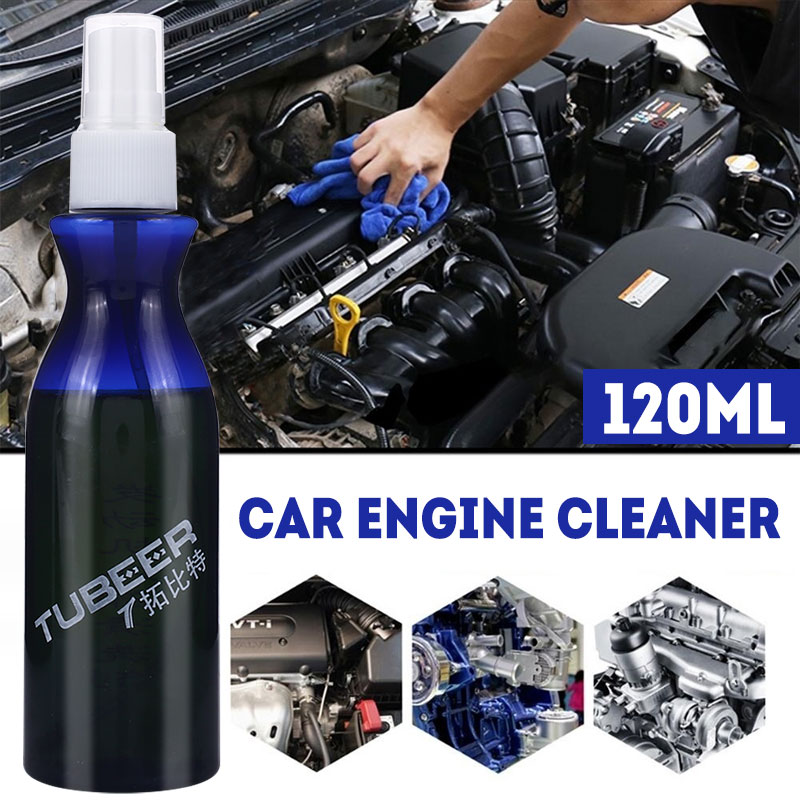 Vehemo 120ml For Auto Maintenance Oil Cleaning Agent External Engine Cleaner Engine Surface Remover Remove Washing Care
