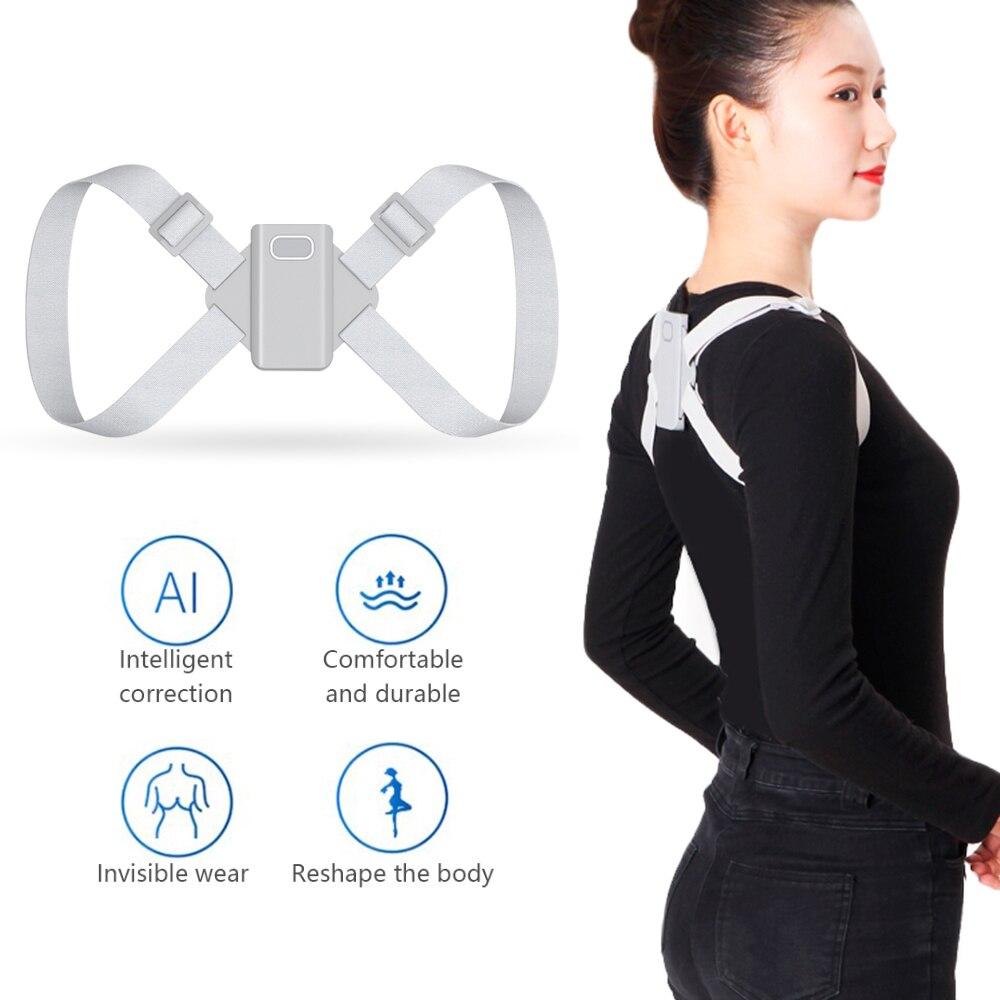 Adjustable Smart Electronic Posture Corrector Electric Shoulder Back Support Belt Clavicle Lumbar Spine Brace Orthotic Healthcar