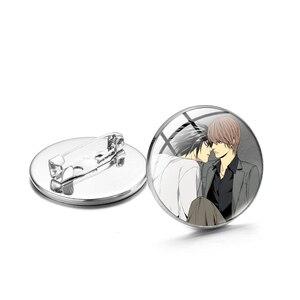 CHSXY смерти брошь-нота Pin светильник Ягами L Ryuk Ryuuku с живописным узором Стекло кабошон металлические броши с изображением шляпы рюкзак воротн...
