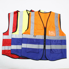 Vest Clothing Construction Reflective Traffic Night-Work-Safety Fluorescent Running Cycling
