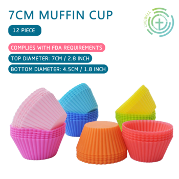 LeFull Set of 12 Pieces 7cm Muffin Cup For Kitchen Round Silicone DIY Baking  Cake Mould Cupcake Molds - discount item  20% OFF Kitchen,Dining & Bar
