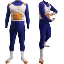 Anime Dragonball Z Sagas Vegeta Super Saiyan Cosplay Costume Zentai Bodysuit Suit Jumpsuits