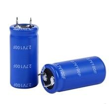 50 шт новое и оригинальное высокого качества 2,7 V 100F 2.7V100F 22*45 мм супер конденсатор/фарад конденсатор Лучшие качество